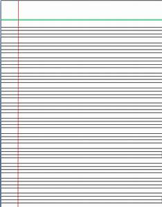 Lined Paper Template For Kids | Search Results | Calendar 2015