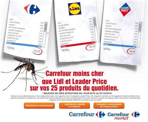 carrefour moins cher qu un moustique