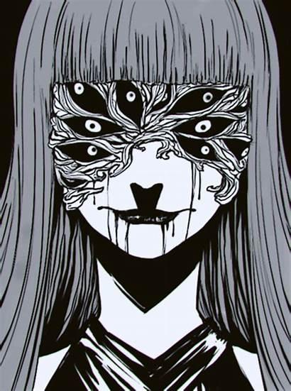 Creepy Anime Dark Ghoul Tokyo Horror Drawings