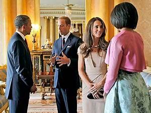 Michelle Obama, Barack Obama Meet Prince William, Kate ...