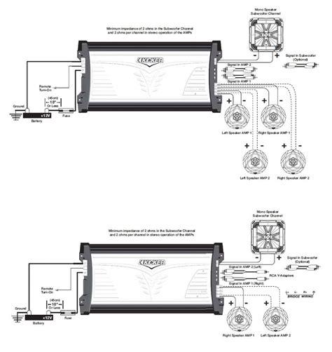 kicker 07mx7005 4x75 watt lifier with 400 watt subwoofer car electronics