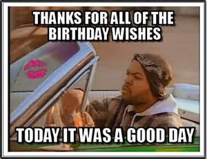 Funny Birthday Wishes Thank You Meme