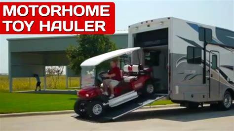 diesel pusher motorhome toy hauler  sale