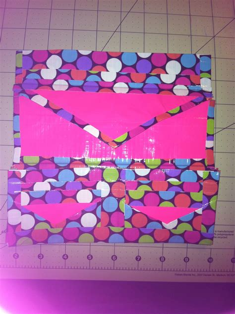 pink polka dot duct s wallet duct