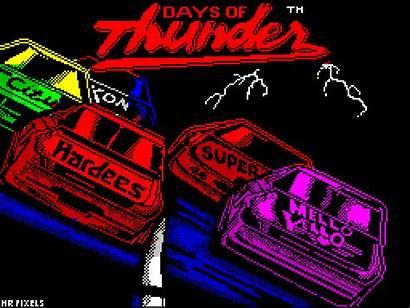 Thunder Days Spectrum Zx Sinclair Title Screen