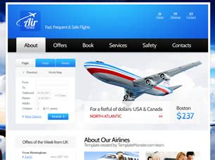 air r駸ervation si鑒e free css website templates page148 of 224 free css