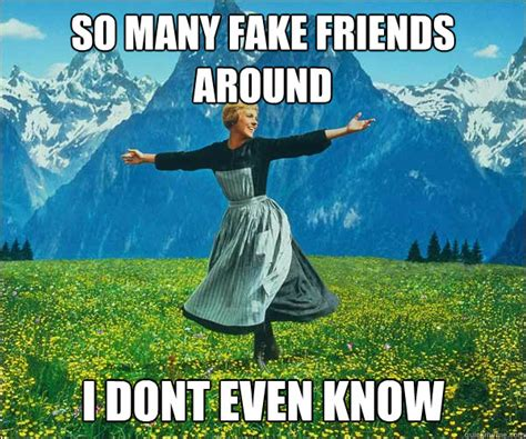 Fake Friends Memes - so many fake friends around i dont even know sound of music quickmeme
