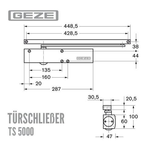 ts 5000 l geze t 252 rschlie 223 er ts 5000 mit gleitschiene f 252 r fl 252 gelbreite bis 140cm
