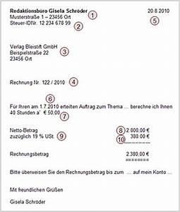 Was Muss Auf Einer Rechnung Stehen : rechnung des freiberuflers ~ Themetempest.com Abrechnung