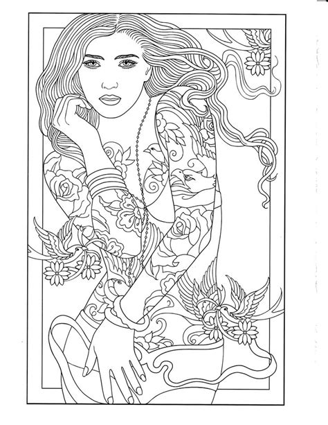 printable coloring page body art coloring pages