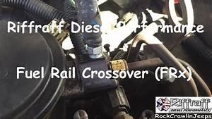 How To  Riffraff Diesel Fuel Rail Crossover  Frx