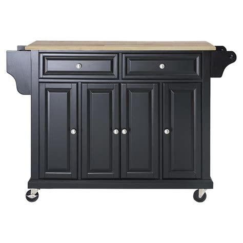 wood kitchen island cart wood top kitchen cart island casters black