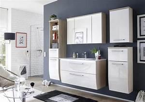 Badmöbel 2 Waschbecken : badm bel badezimmer relax 6tlg set in hochglanz weiss inkl waschbecken badm bel ~ Markanthonyermac.com Haus und Dekorationen
