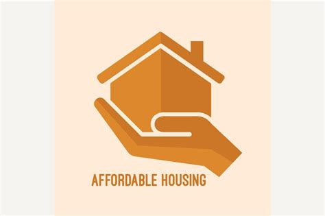 Affordable housing icon. ~ Graphics ~ Creative Market