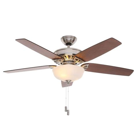 ceiling fan with lights hton bay middleton 42 in indoor brushed nickel ceiling