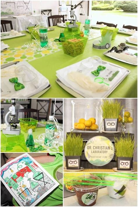 Mad Science Themed 9th Birthday Party  Spaceships And