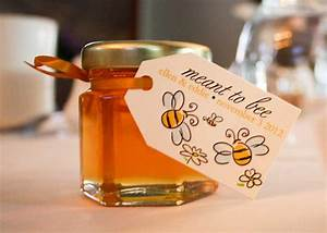 2oz natural honey jar wedding favor your guests will enjoy With honey sayings for wedding favors