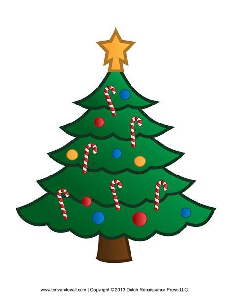 printable paper christmas tree template  clip art