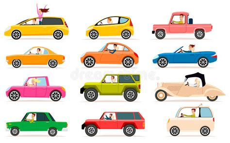 Collection Of Different Types Of Automobile Cabine Stock