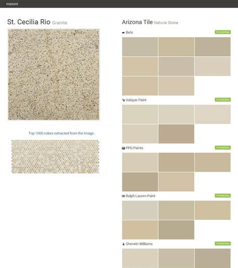 st cecilia granite natural arizona tile behr valspar paint ppg paints ralph