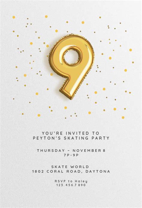 birthday balloons  printable birthday invitation