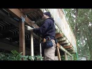 How To Replace A Deck Beam And Posts