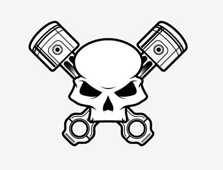 how to create a stylish skull based vector illustration logos brands totenk 246 pfe