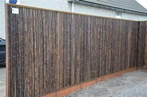 Sichtschutz 1 20 Hoch : bambusmatte 180 x 180 black natur pro kastanie shop ~ Bigdaddyawards.com Haus und Dekorationen