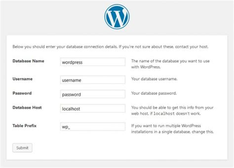Installing Wordpress « Wordpress Codex