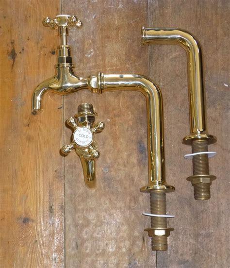 Brass Sink Taps Bathroom by Details About Pair Of Polished Brass Belfast Sink Bib Taps