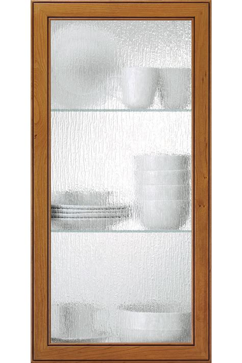 rain glass cabinet insert kitchen craft cabinetry