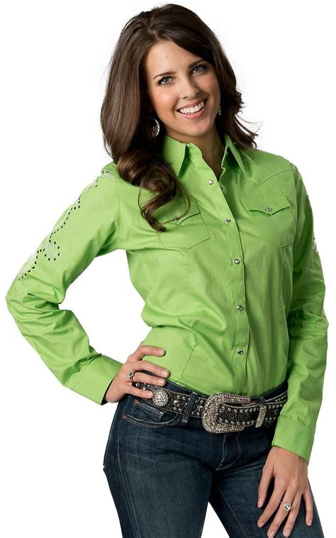 womens green blouse roper 39 s w broze glitter underlay snip toe
