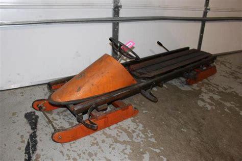 vintage fleetwing ft bobsled steering wheel brake