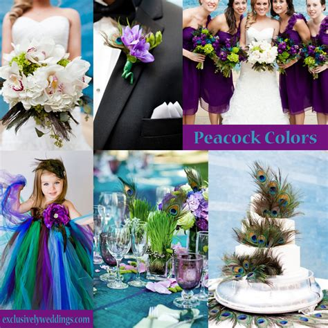 colors for weddings your wedding colors peacock exclusively weddings wedding planning tips and more