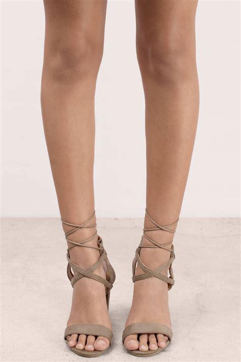 taupe color heels taupe heels beige heels lace up heels 70 00