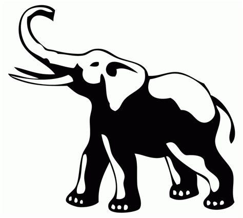 elephant stencil trunk up elephant outline clipartion