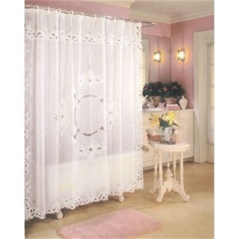 white vinyl lace shower curtain things i need