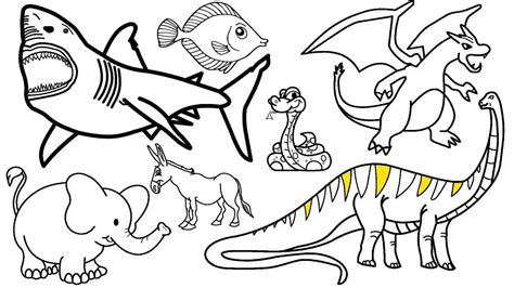 How To Draw Animals Coloring For Kids