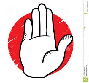 Cartoon Hand with Stop Sign