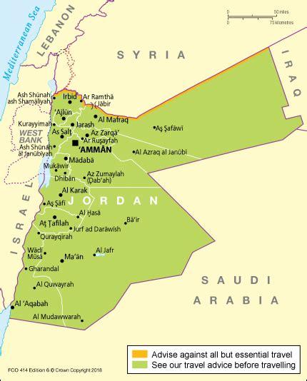entry requirements jordan travel advice govuk