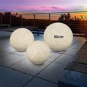 Lampe En Pierre : lampe boule solaire couleur fixe ou changeante pierre 50 cm sur lampes solaires ~ Teatrodelosmanantiales.com Idées de Décoration