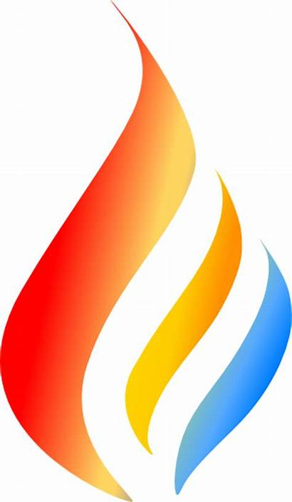 Flame Clip Maron Clipart Boiler Company Clker