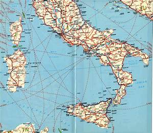Southern italy map in detail and travel information ...