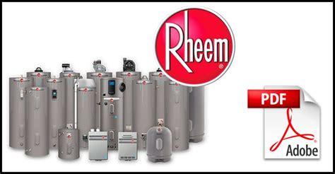 Rheem Water Heater Manuals Hub