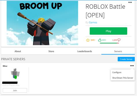 purchase  configure vip servers roblox support