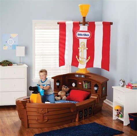 boys pirate ship bed toddler bedroom furniture kids storage boat sleeper child ebay