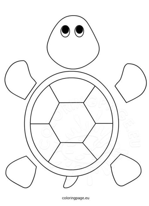 turtle template animal coloring page