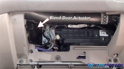Blend Door Actuator Location