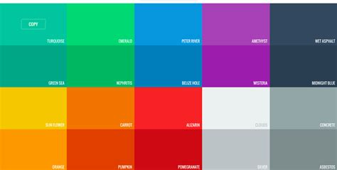 flat color flat ui colors startup collections