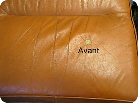 réparer canapé simili cuir comment reparer dechirure canape cuir